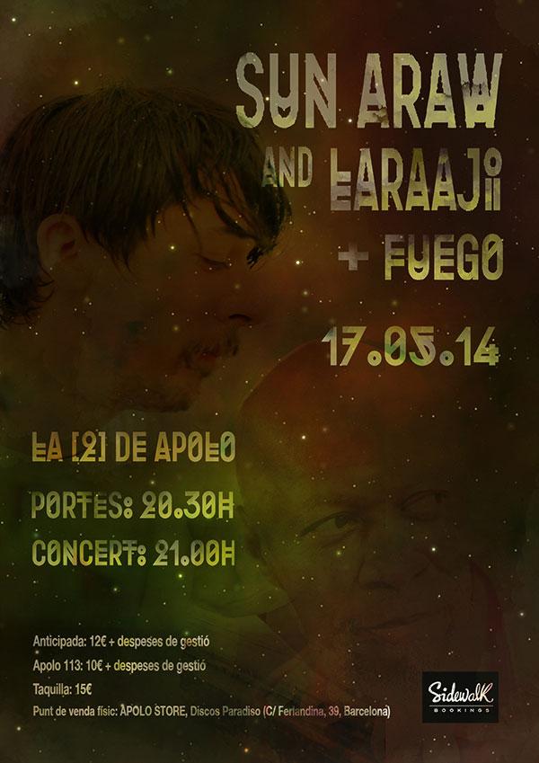 Laraaji + Sun Araw + Fuego en Caprichos del Apolo